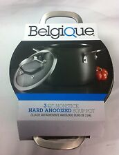Belgique Hard Anodized 3 Qt. Soup Pot With Lid NEW