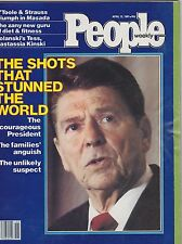 APRIL 13 1981 PEOPLE magazine (UNREAD - NO LABEL) - RONALD REAGAN SHOT
