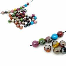 Mixed Acrylic Round Luster Spacer Beads 10mm, 180 Pack (1.5mm Hole)