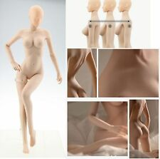 """1/6 Flexible seamless Female Rubber Skin Layer Pale Body Fit 12"""" Figure#US"""