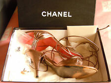 GENUINE CHANEL LADIES SILVER & PINK SHOES SIZE UK 5