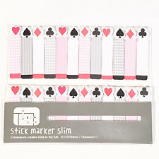 180 Sheets Poker Cards Mini Sticky Notes Page Marker Memo Tab Sticker UK