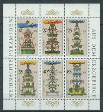 DDR Briefmarken 1987 Weihnachtspyramiden Mi.Nr.3134-3139 Postfrisch