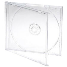 5 X Single CD Jewel Case Cases 10mm 10.4mm Clear Tray HIGHEST QUALITY PLASTIC
