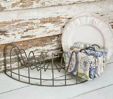 Vintage look Rustic Wire Dish Rack Display, File Holder, Mail caddy, card holder