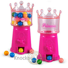 Princess Gumball Machine Gum Ball Candy Dispencer  Gumballs Dispence Pink Crown