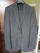 Dolce & Gabbana Grey Sriped Single Breasted Suit, Size 48R, Excellent Condition