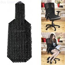 Car Seat Cover Zone Tech Wood Beaded Seat Cushion Massager Health Care Black