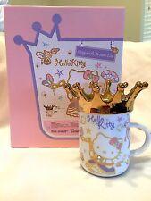 Sanrio Princess Hello Kitty Ceramic Mug Cup w/ Crown Lid ~~ NIB!!
