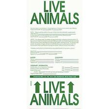 Live Animal Label for Dogs & Pets - 3  Labels - put on kennels when traveling