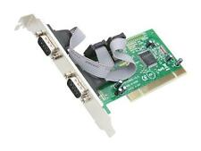 SYBA 2 DB-9 Serial (RS-232, COM) Ports PCI Controller Card, Netmos 9865 Chipset