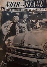MICHELE MORGAN SALON DE L AUTO en COUVERTURE de NOIR et BLANC No 398 de 1952