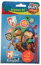 Official Mike The Knight Scribble Set Pencil Eraser Notebook School