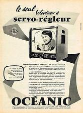 PUBLICITE ADVERTISING 124  1959   OCEANIC   téléviseur AUTO-REGLEUR