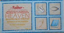 "Our Father Prayer Christian Bible Verse 23""x44"" inch  Panel QT Cotton Fabric"