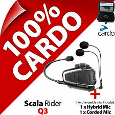 New Cardo Scala Rider Q3 (Single) Bluetooth Motorcycle Helmet Intercom Headset