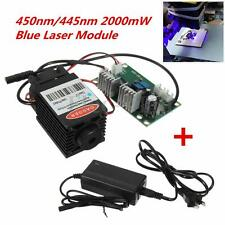 2000mW 2W 445nm 450nm Blue Laser Diode Dot Module TTL Wood Engraver with Power
