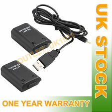 Twin 4800mAh Rechargeable Battery Pack+USB Charge Cable for Xbox 360 Controller