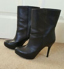 Womens COS Black Leather Ankle Boots - Size 40 / UK 7 - RRP £150