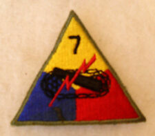 """WWII LEMON APEX 7TH ARMOR DIV VARIANT W/ SMALL NUMBER """"7"""" & THIN OD BORDER CE"""