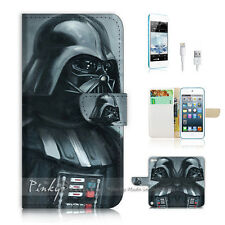 iPod Touch 5 iTouch 5 Flip Wallet Case Cover! P1165 Starwars Darth Vader