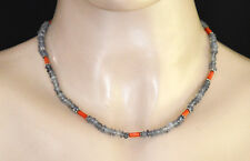 Sterling Silver Necklace Tibetan Ethnic Amethyst Coral Beautiful Jewelry Nc4