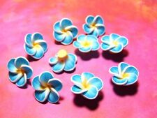 New 25 Fimo Polymer Clay Flower Rose Blue White Yellow  20mm Beads