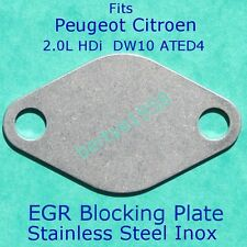 EGR valve blanking plate Peugeot Citroen 2.0 HDi PSA DW10ATED4 engine Ally inlet