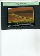 P614 # MALAYSIA USED PICTURE POST CARD * BEAUTIFUL PENANG BRIDGE AT NIGHT