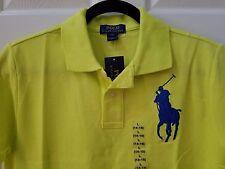 Brand New Polo Ralph Lauren Big Pony Boys Short Sleeve Polo Shirt L 14-16 Yellow
