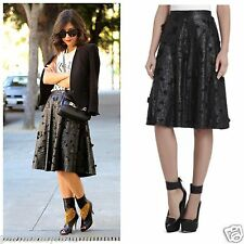 NEW BCBG MAX AZRIA BLACK CO. ELSA FLOWER CUTOUT A-LINE SKIRT AMP3E378 SZ M