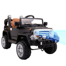 12V MP3 Battery Power Wheels Jeep Car Truck Remote Kids Ride W/ LED Lights Black