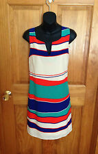 NWT WOMEN'S Boutique Pink Owl Apparel Sleeveless Striped Dress Size Large L