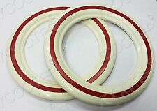 """Vespa 8"""" Inch Tyre Wall Inserts Red/White Pair for 1 Tyre VL/VBA/VBB/Super/150"""