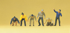 HO 1:87 scale Preiser 14064 Dock Workers in Knit Caps : Figures