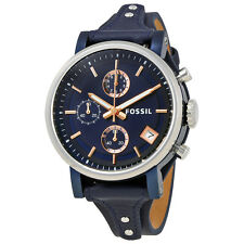 Fossil Original Boyfriend Chronograph Blue Dial LadiesWatch ES4113