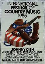 JOHNNY CASH 1985 COUNTRY MUSIC FESTIVAL JERRY LEE LEWIS German concert poster