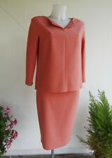 MAX MARA tailleur rosa pesca / skirt and suit blouse pink peach New! 46 IT