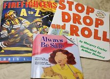 Scholastic Firefighters Alphabet Stop Drop Roll Safety Reading Books Lot of 3