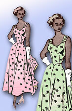 1940s Vintage Mail Order Sewing Pattern 3907 Misses Sun Dress and Jacket Size 12