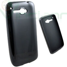 Custodia termoplastica NERO LUCIDO flessibile per Alcatel One Touch X'POP 5035d