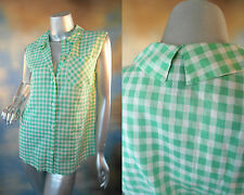 RETAIL $188 MARC by MARC JACOBS Tiffany check jade stone multi blouse shirt 6