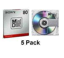 5 x Sony Mini Disk Recordable 80 Min - BRAND NEW IN PACKAGING