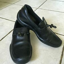 PRADA Black Leather Loafers Slip on Shoes sz.35.5 made in Italy