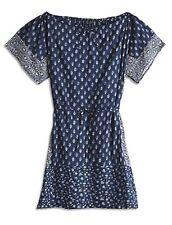 Lucky Brand - XS - NWT $99 - Blue Bandana Print 100% Cotton Tunic Shirt Dress