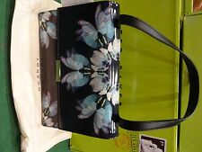 BRAND NEW WITH TAGS TED BAKER DINNIA BLACK DELICATE FLUTTER SHOULDER TOTE BAG