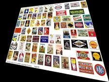 O GAUGE QUALITY ADVERTISING SIGNS S8b MODEL RAILWAY HORNBY STATION TOWN LAYOUT