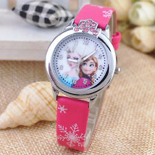Disney Frozen Elsa & Anna Children Girls Kids Quartz Rhinestone Wrist Watch Pink