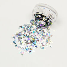 1Pc Nail Art Glitter Dust Powder Rhombus Diamond Sequins Sheets Slice Decoration