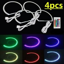 4pcs Xenon Headlight RGB remote Multi-Color LED Angel Eye Kit for BMW E39 E46 M3